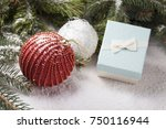 christmas decorative elements... | Shutterstock . vector #750116944