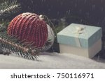 christmas decorative elements... | Shutterstock . vector #750116971