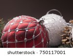 christmas decorative elements... | Shutterstock . vector #750117001