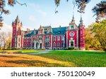 spectacular autumn scene of...   Shutterstock . vector #750120049