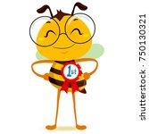 vector illustration of happy... | Shutterstock .eps vector #750130321
