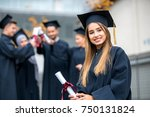 group of diverse international... | Shutterstock . vector #750131824