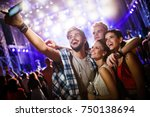 happy friends taking selfie at... | Shutterstock . vector #750138694
