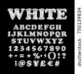full english alphabet of white... | Shutterstock .eps vector #750139834