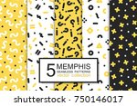 collection of swatches memphis... | Shutterstock .eps vector #750146017