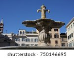 two fountains from old bathtub... | Shutterstock . vector #750146695