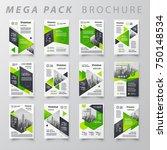 mega pack brochure design...   Shutterstock .eps vector #750148534
