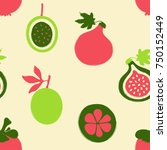 abstract colorful fruits... | Shutterstock .eps vector #750152449