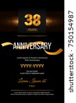 38 years golden anniversary... | Shutterstock .eps vector #750154987