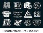 set of emblems in sport style....   Shutterstock .eps vector #750156454