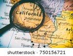 us atlas closeup | Shutterstock . vector #750156721