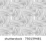 seamless wooden pattern on the... | Shutterstock .eps vector #750159481