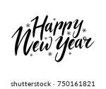 vector hand drawn lettering... | Shutterstock .eps vector #750161821