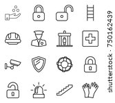 thin line icon set   chemical... | Shutterstock .eps vector #750162439