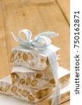 nougat  sweet italian | Shutterstock . vector #750162871