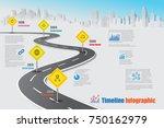 business road map timeline... | Shutterstock .eps vector #750162979