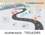 business road map timeline... | Shutterstock .eps vector #750162985