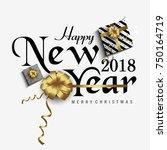 vector 2018 happy new year....   Shutterstock .eps vector #750164719