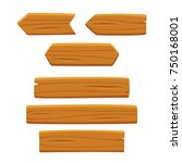 wooden planks set  vector... | Shutterstock .eps vector #750168001