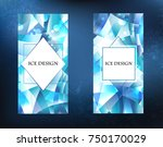 two crystalline  icy  blue ... | Shutterstock .eps vector #750170029