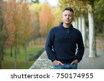 handsome middle aged man... | Shutterstock . vector #750174955