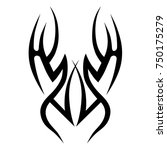 tattoo tribal designs. sketched ... | Shutterstock .eps vector #750175279