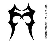 tattoo tribal designs. sketched ... | Shutterstock .eps vector #750175285
