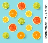 creative layout made of lemon ... | Shutterstock . vector #750176704