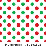 vector seamless red and green... | Shutterstock .eps vector #750181621