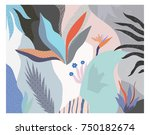 creative universal floral... | Shutterstock .eps vector #750182674