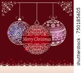 abstract red christmas... | Shutterstock .eps vector #750185605