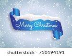 winter card merry christmas ... | Shutterstock .eps vector #750194191