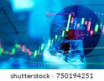 forex market background ... | Shutterstock . vector #750194251