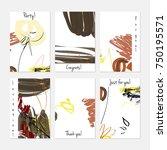 hand drawn creative universal...   Shutterstock .eps vector #750195571