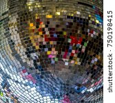 colorful reflections in a disco ... | Shutterstock . vector #750198415