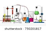 realistic chemical laboratory... | Shutterstock .eps vector #750201817