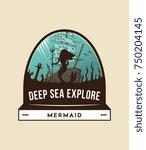 vector deep sea exploration... | Shutterstock .eps vector #750204145