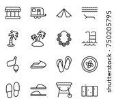 thin line icon set   market ...   Shutterstock .eps vector #750205795
