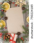 greeting card for the christmas ... | Shutterstock . vector #750224185