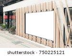 blank outdoor bus and shop...   Shutterstock . vector #750225121