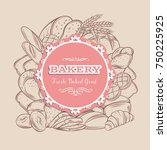 food template banner frame with ... | Shutterstock .eps vector #750225925
