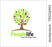 people life vector logo template | Shutterstock .eps vector #750226501