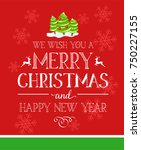 merry christmas holidays... | Shutterstock .eps vector #750227155