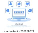 concept illustration   feedback ... | Shutterstock .eps vector #750230674