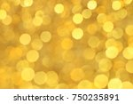 light yellow and gold bokeh... | Shutterstock . vector #750235891