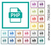 php file format flat color... | Shutterstock .eps vector #750238135