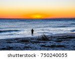 A Surf Fisherman At The Break...