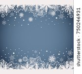 abstract white and grey... | Shutterstock .eps vector #750246931
