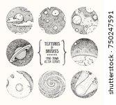 hand drawn stippling... | Shutterstock .eps vector #750247591