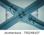 blue construction beam forming... | Shutterstock . vector #750248107